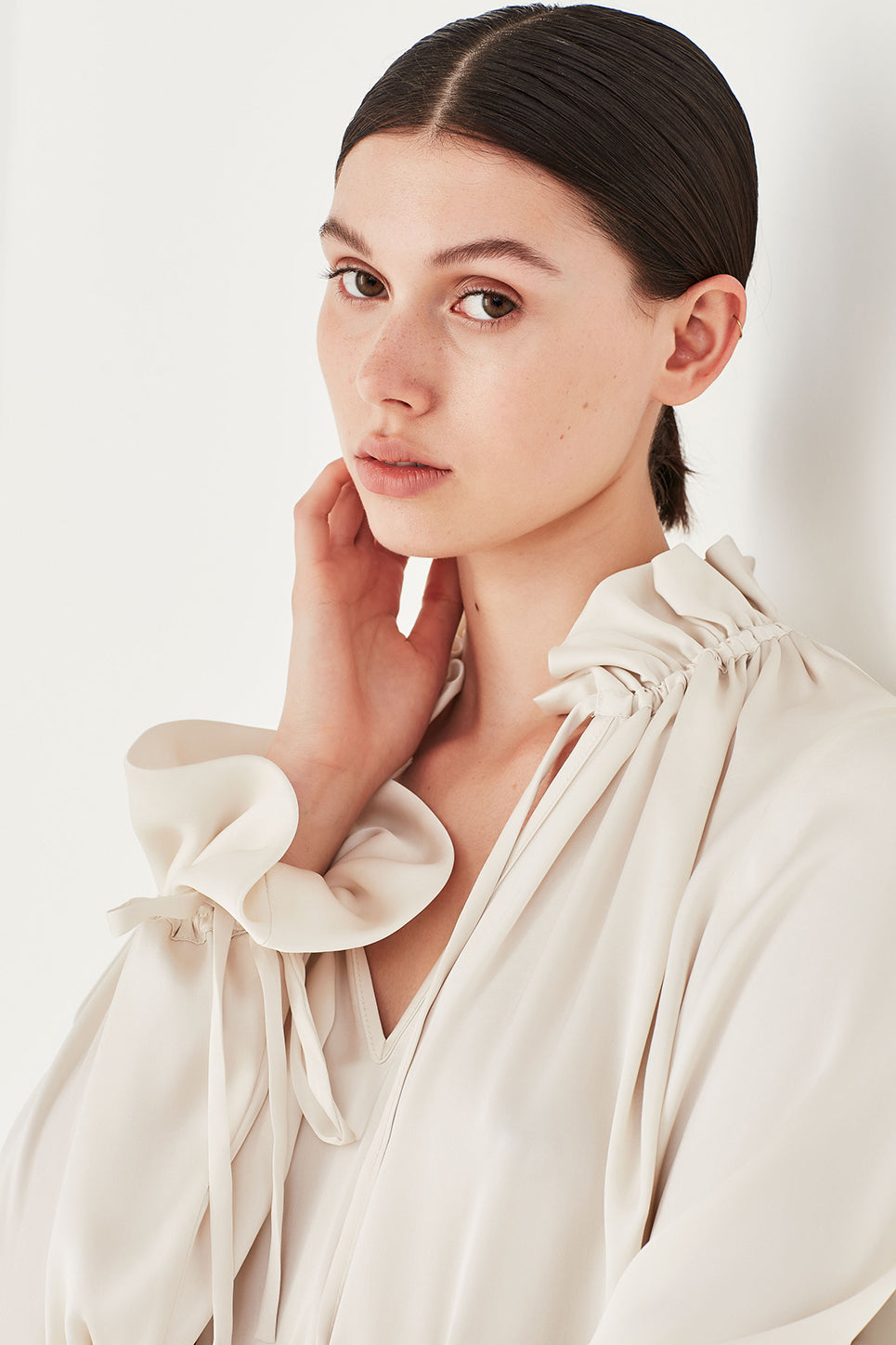 The Primrose Blouse in Ivory