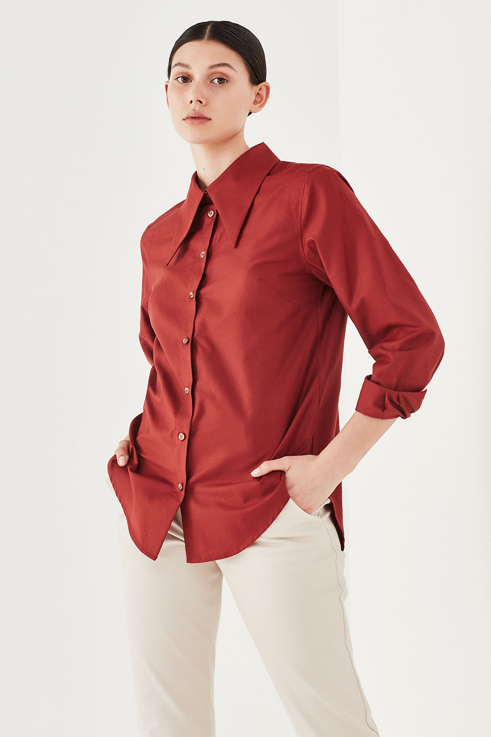 The Dunaway Shirt in Burnt Sienna