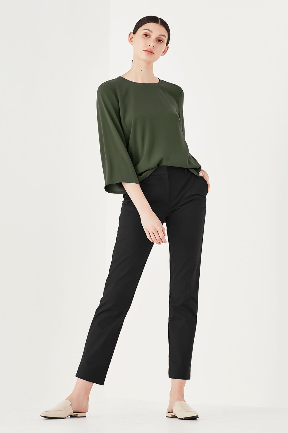 The Roxy Top in Hunter Green
