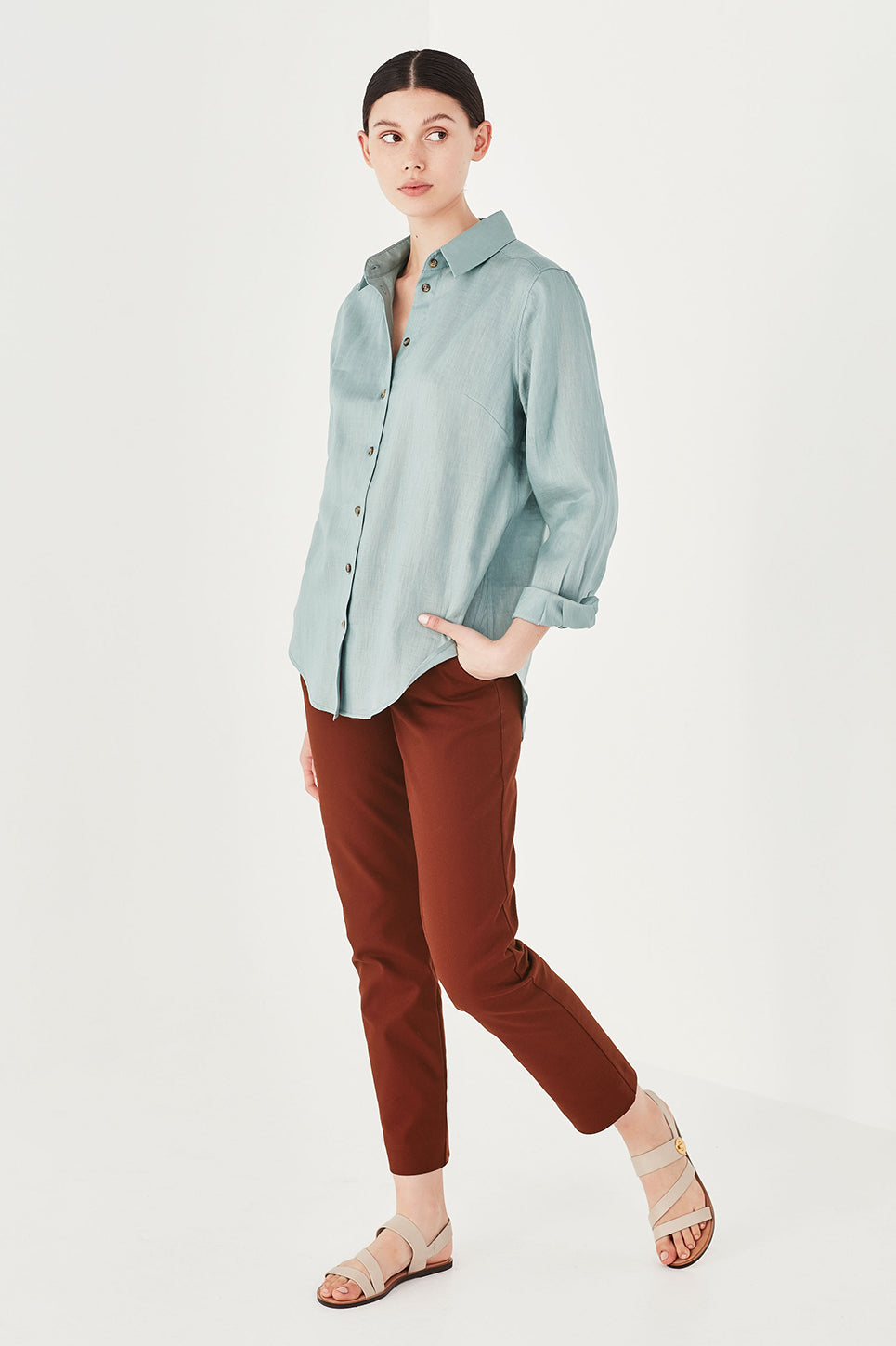 The Turret Shirt in Turquoise