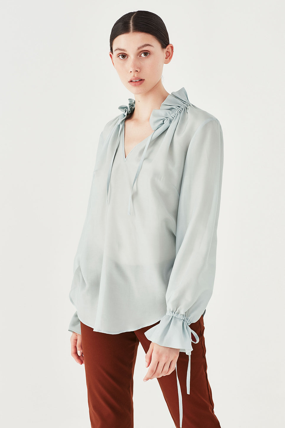 The Primrose Blouse in Turquoise