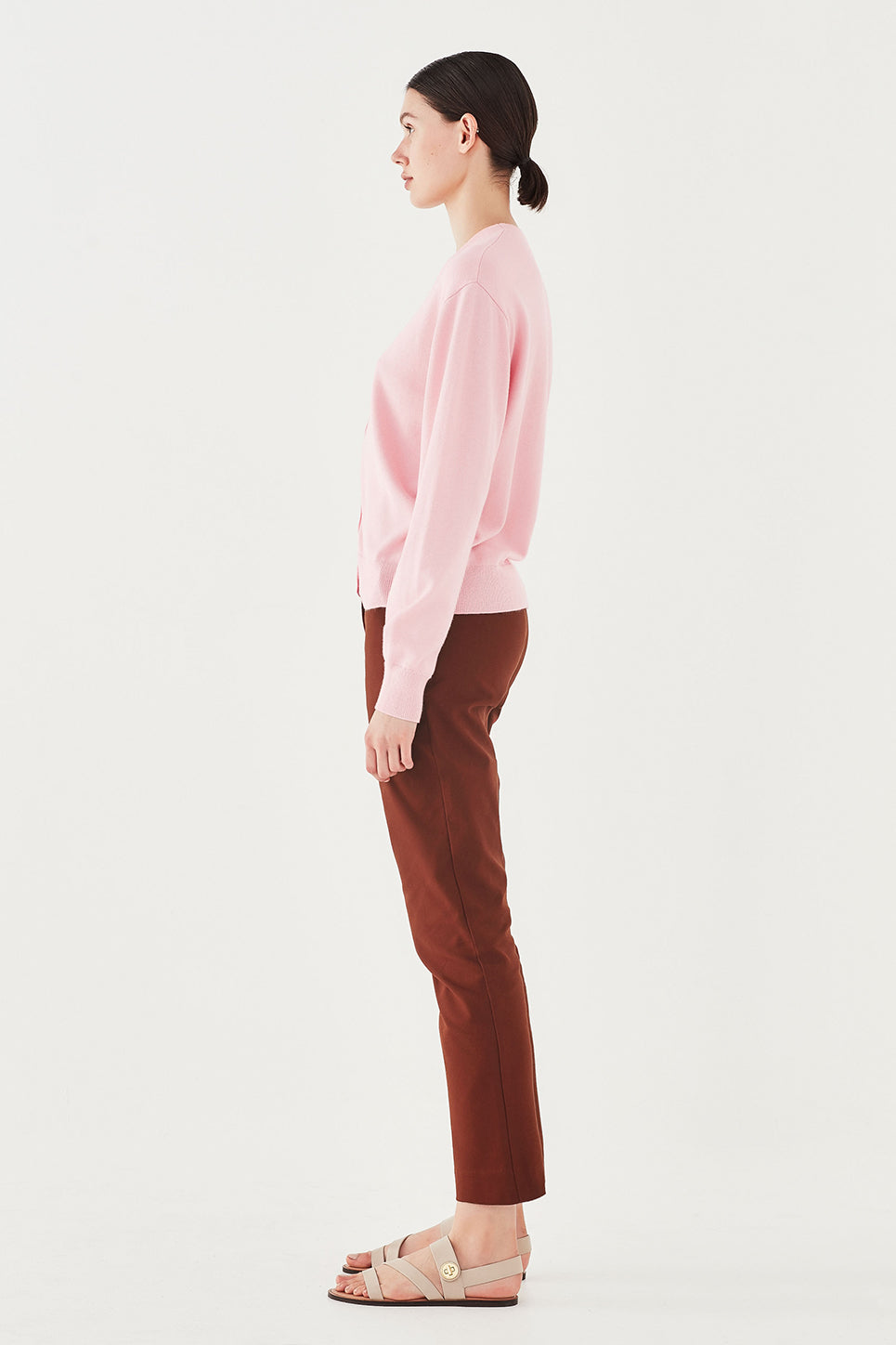 The Marlon Trouser in Burnt Sienna
