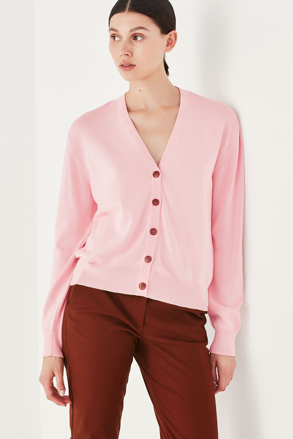 The Clover Cardi in Peony