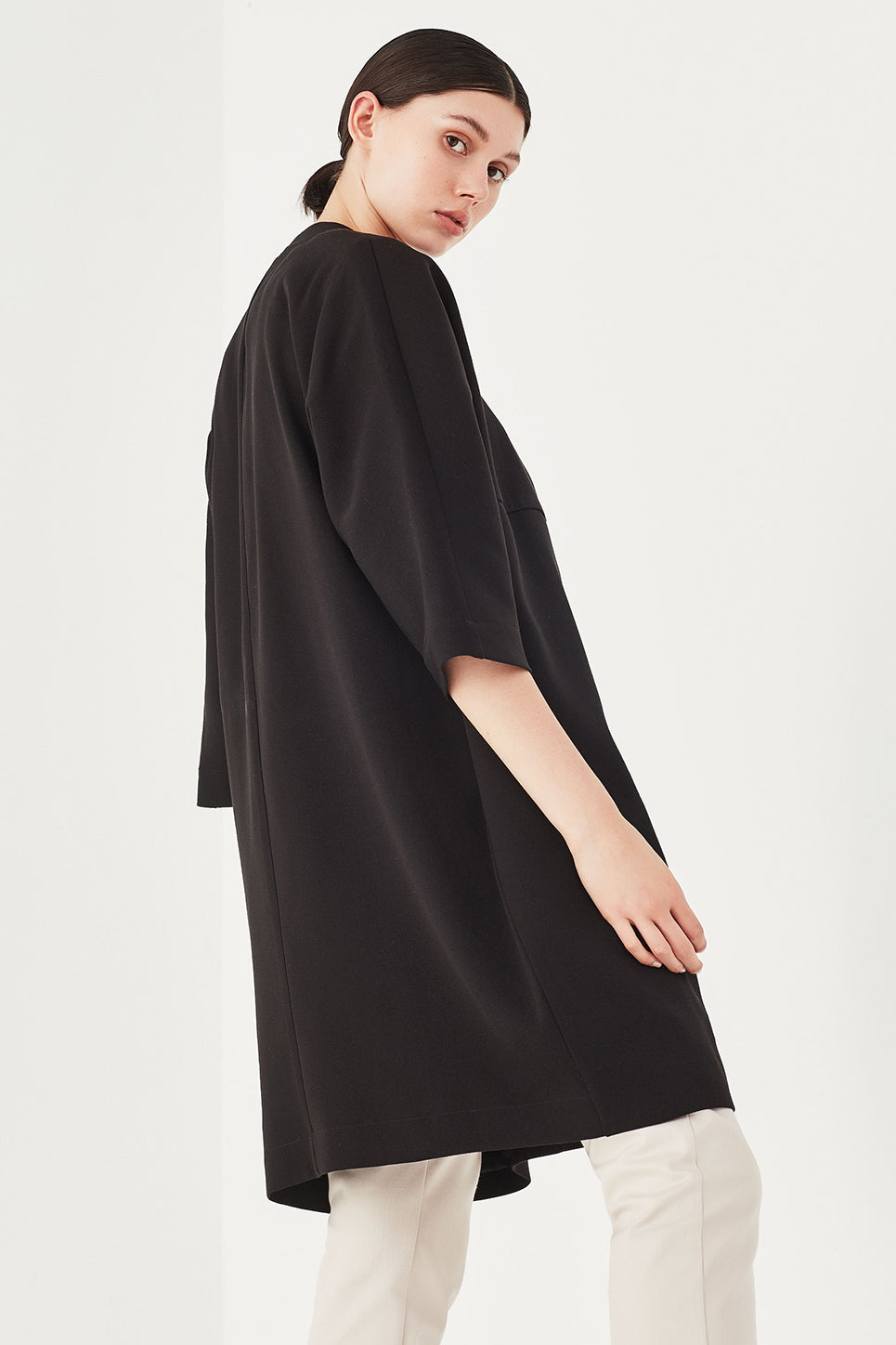 The Allium Coat in Black