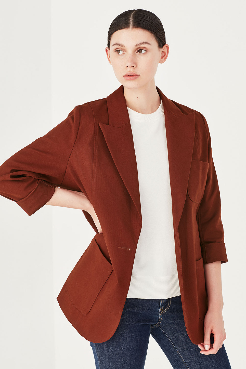 The Ada Jacket in Burnt Sienna