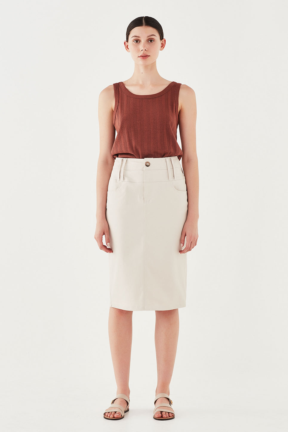 The Ada Skirt in Bone