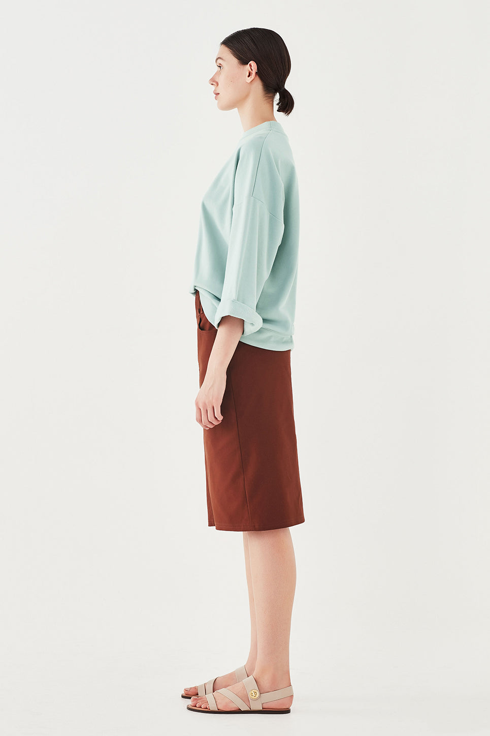 The Fabian Top in Turquoise
