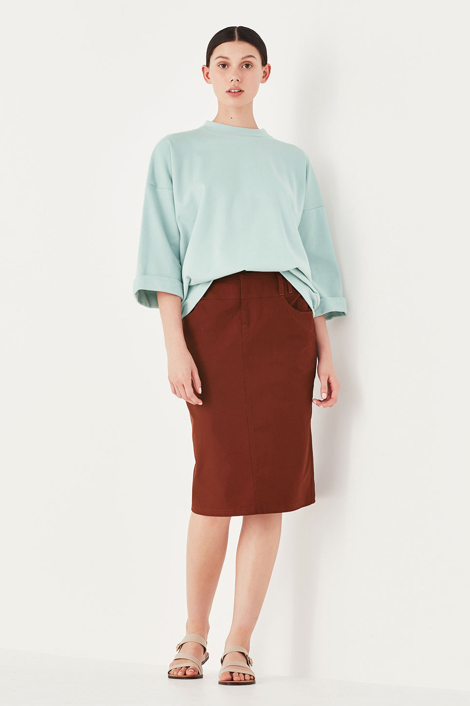 The Ada Skirt in Burnt Sienna