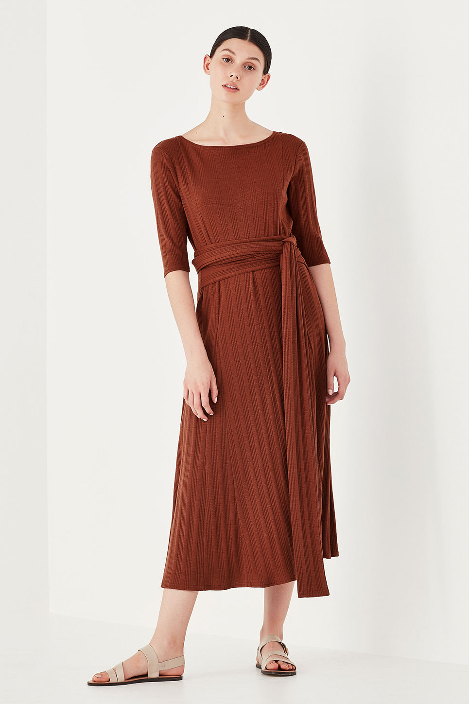 The Bella Dress in Burnt Sienna
