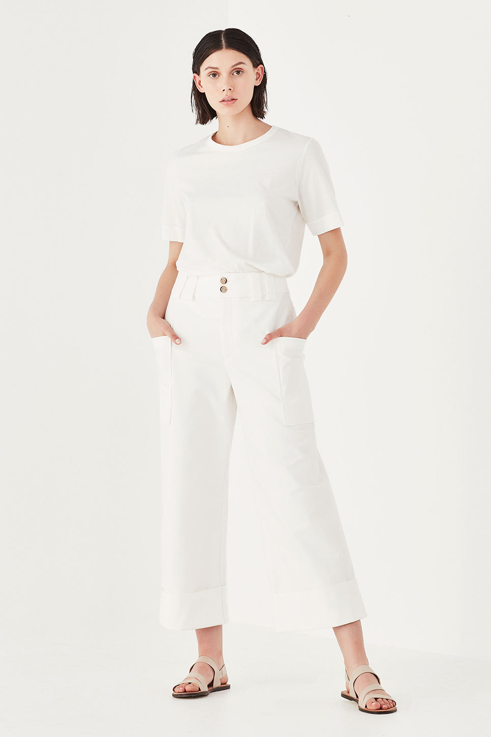 The Dahlia Trouser in White