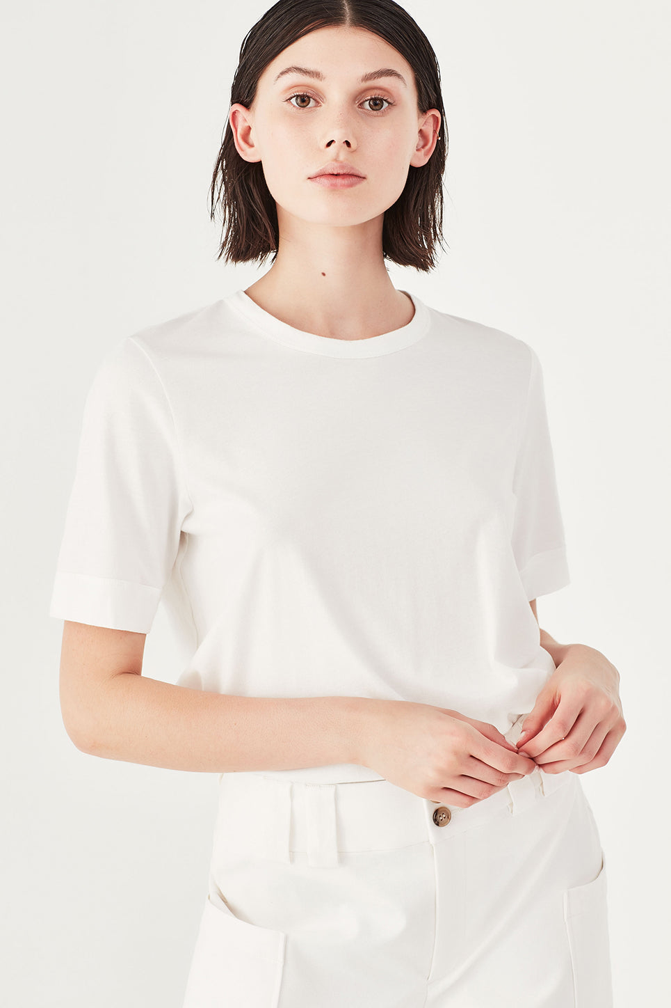 The Column Tee in Ivory