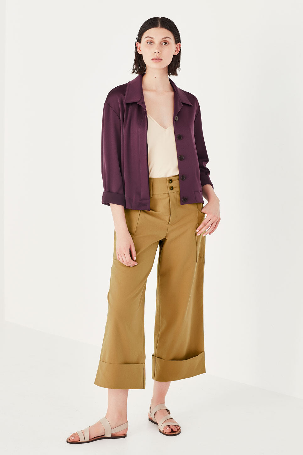 The Dahlia Trouser in Ochre