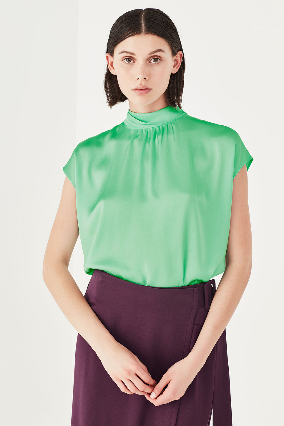 The Bowie Top in Green Apple