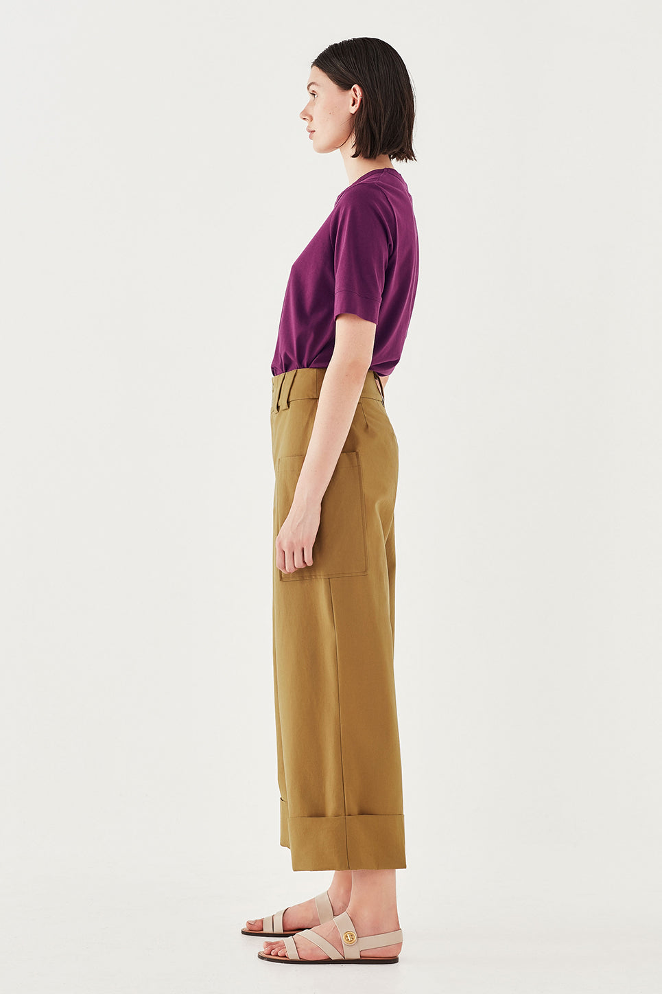 The Column Tee in Boysenberry