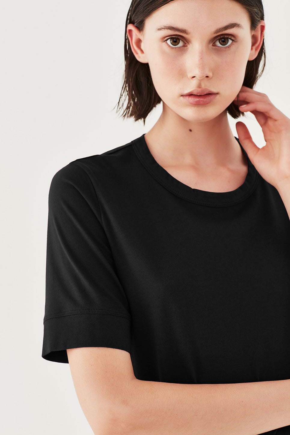 The Column Tee in Black