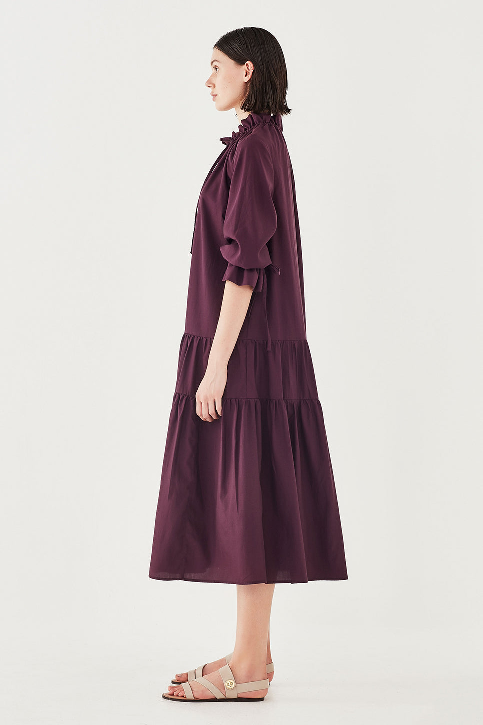 The Primrose Dress in Aubergine