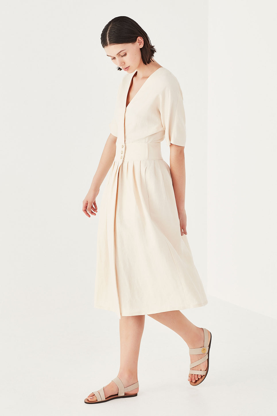 The Aster Dress in Cream