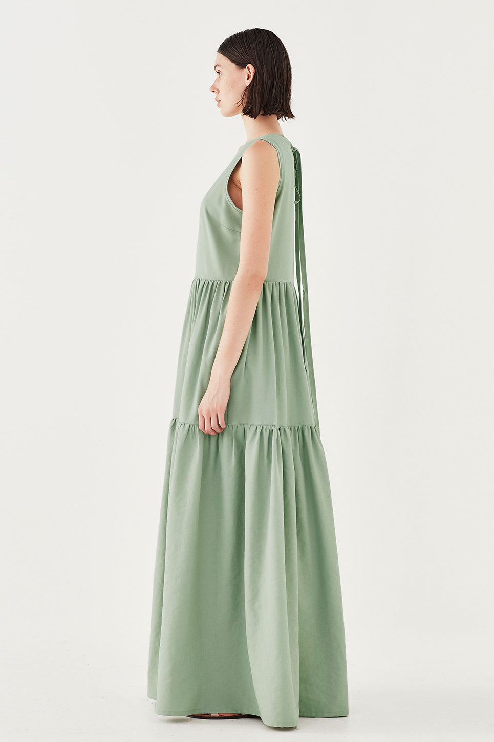 The Iris Dress in Pistachio
