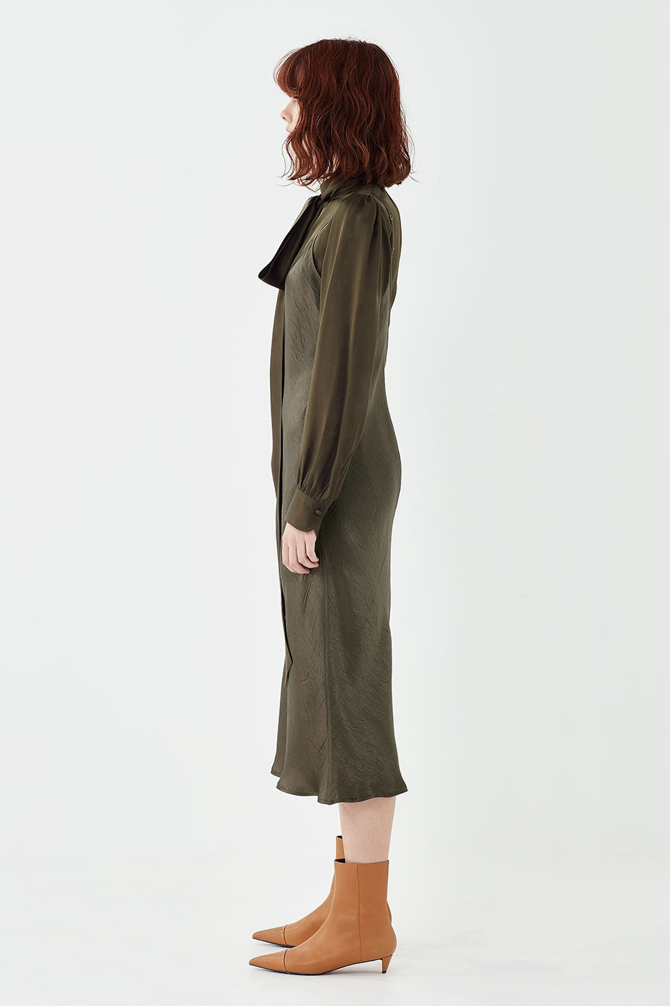 The Corsica Slip Dress in Hunter Green