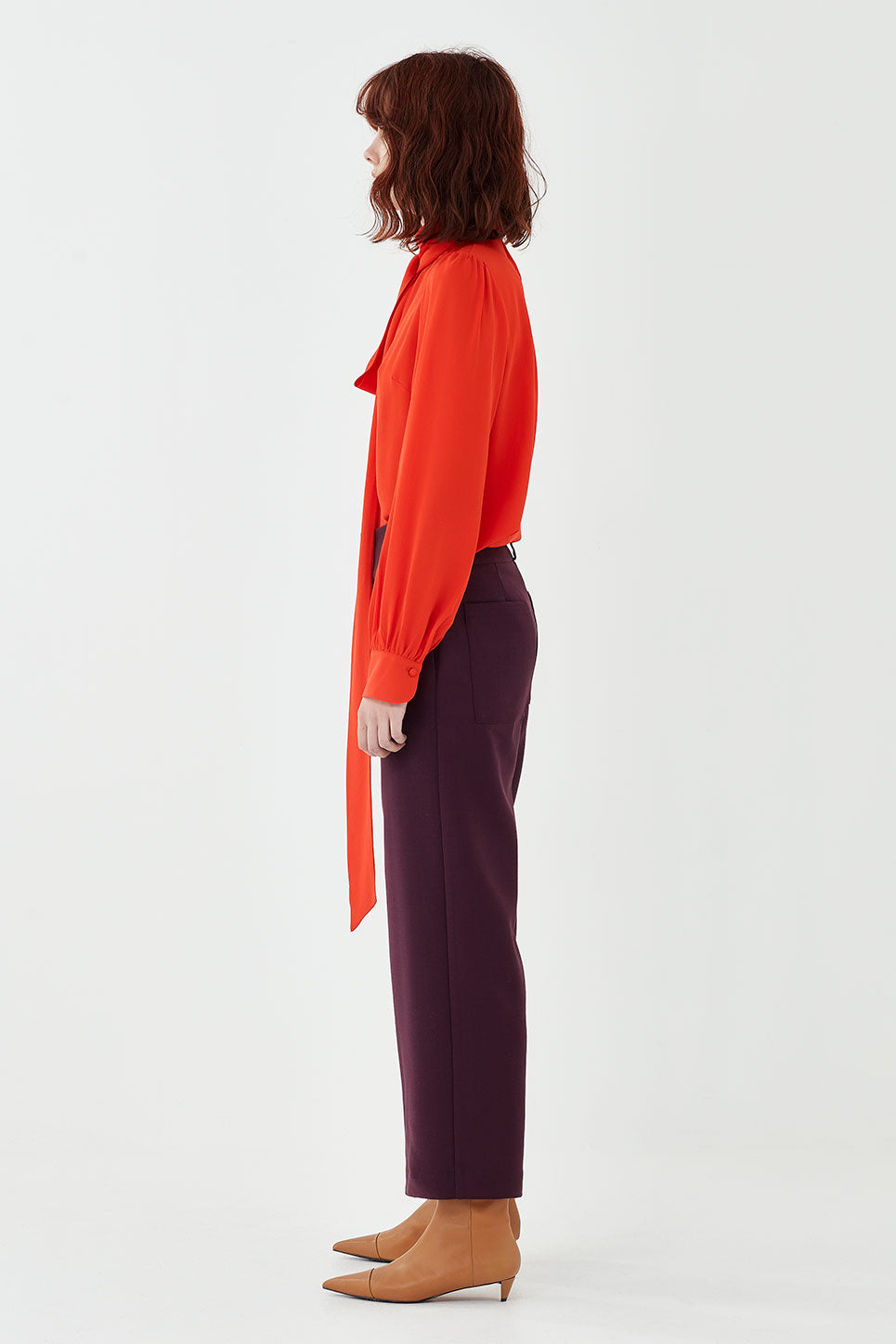 The Whitman Trouser in Aubergine