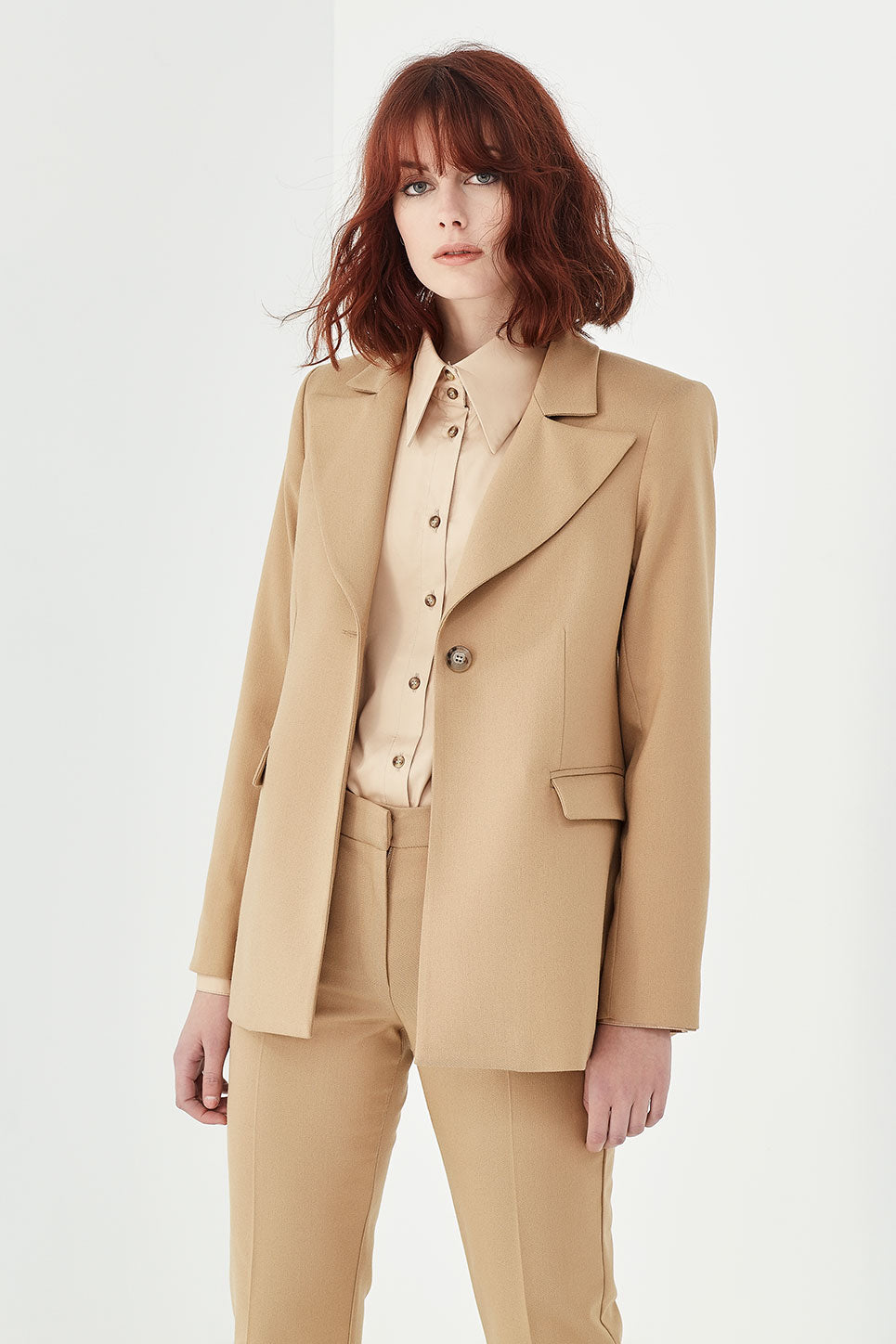 The Marlon Jacket in Tan