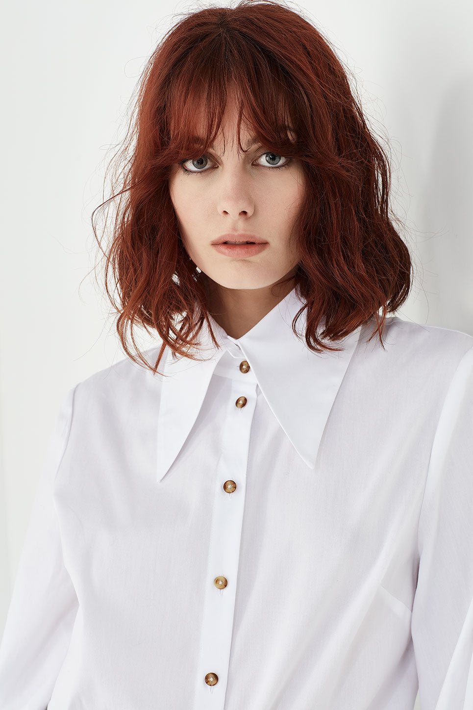 The Lennon Blouse in White