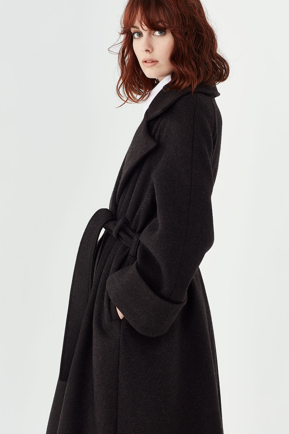 The Keats Coat in Herringbone