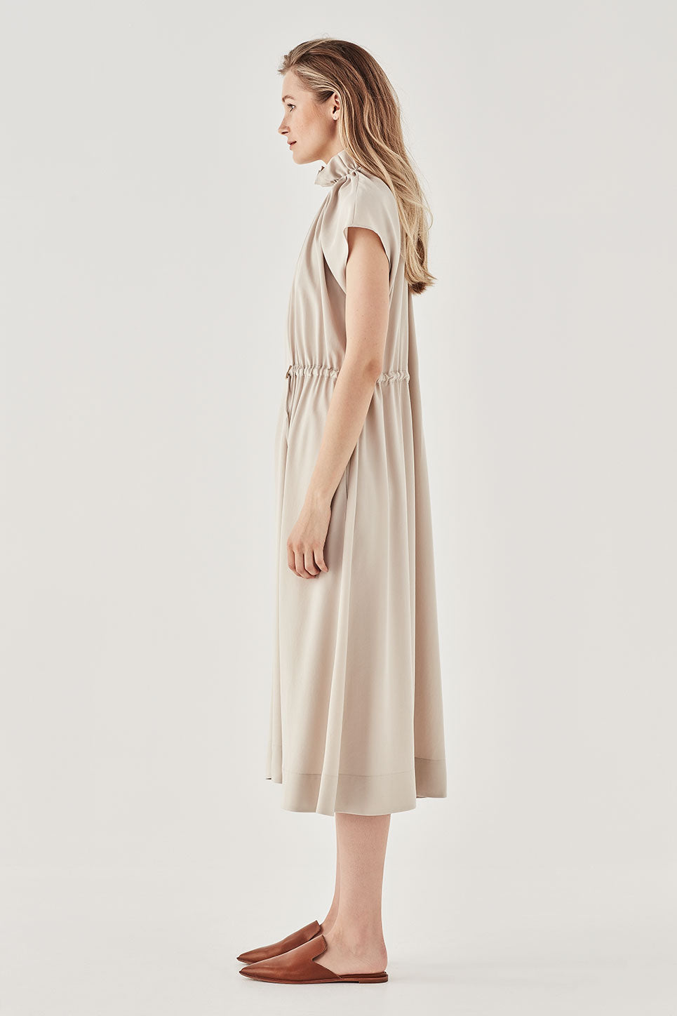 The Ondine Dress in Stone
