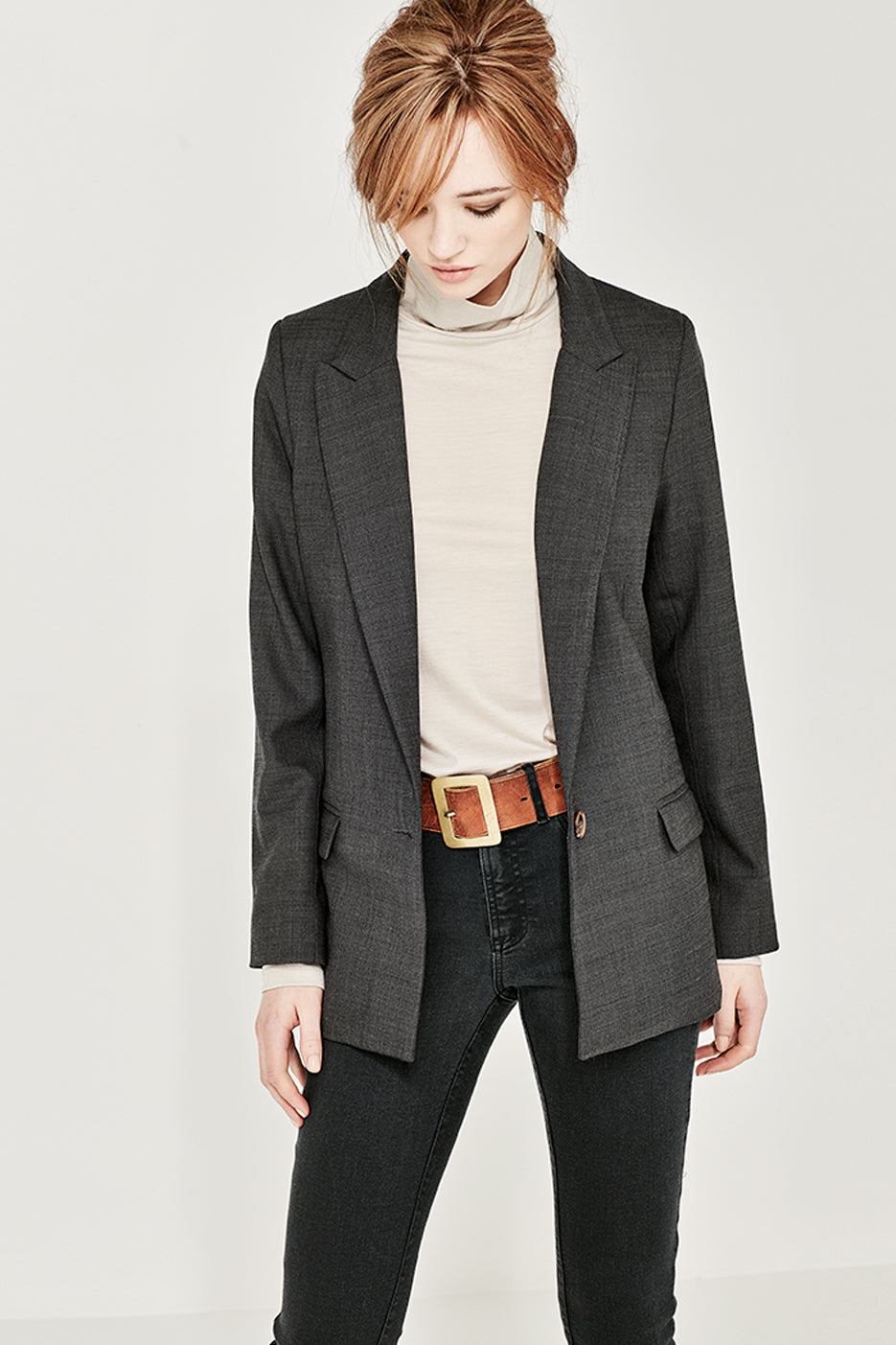 The Madison Jacket in Charcoal