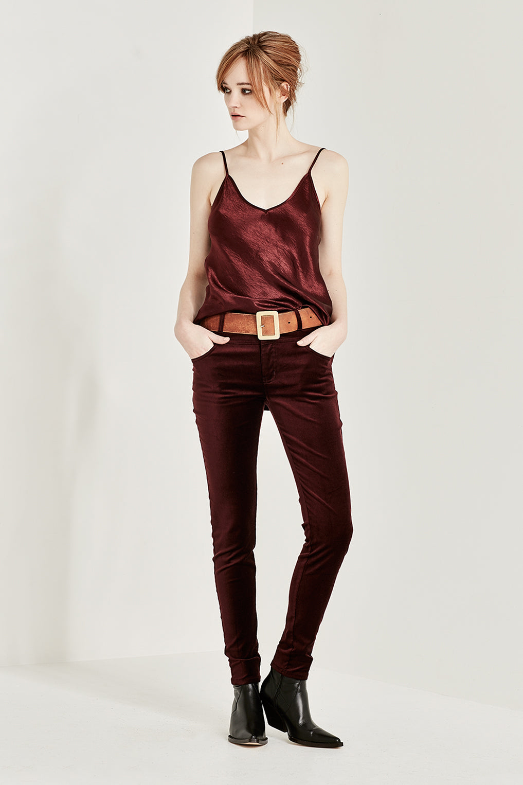 The Corsica Cami in Bordeaux Crush