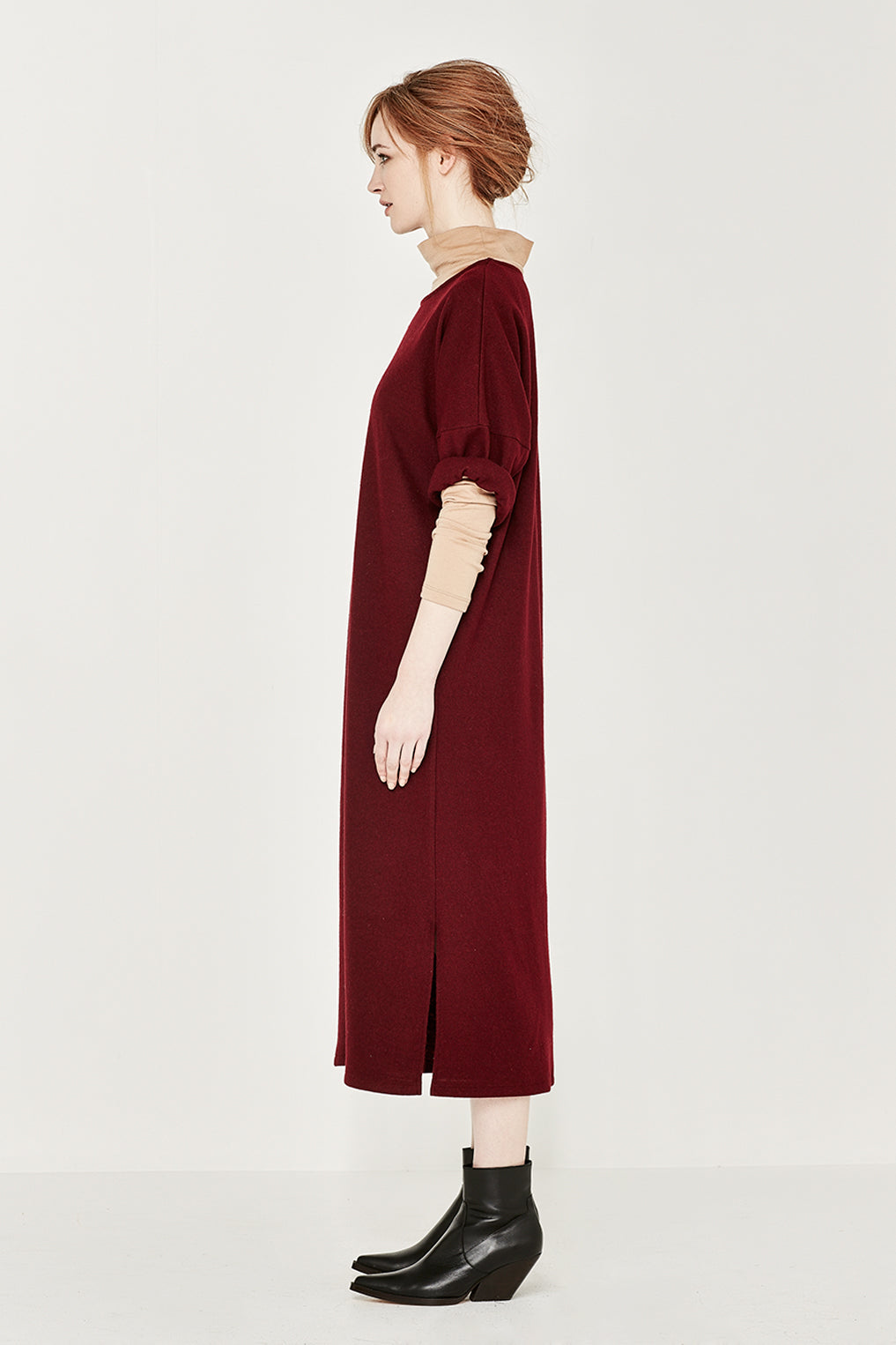 The Maton Dress in Merlot