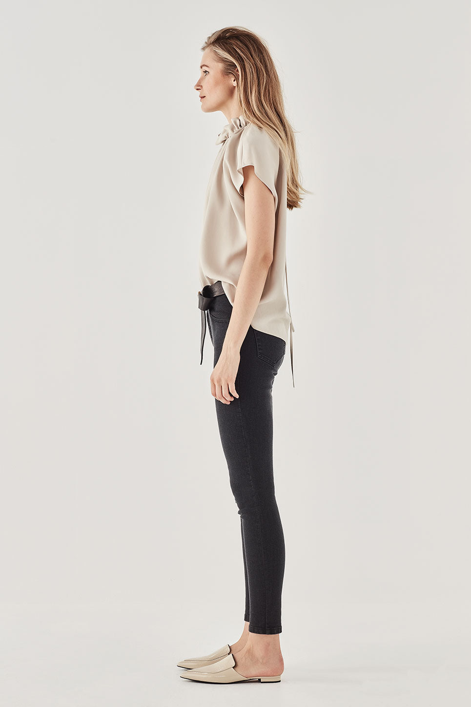 The Ondine Top in Stone