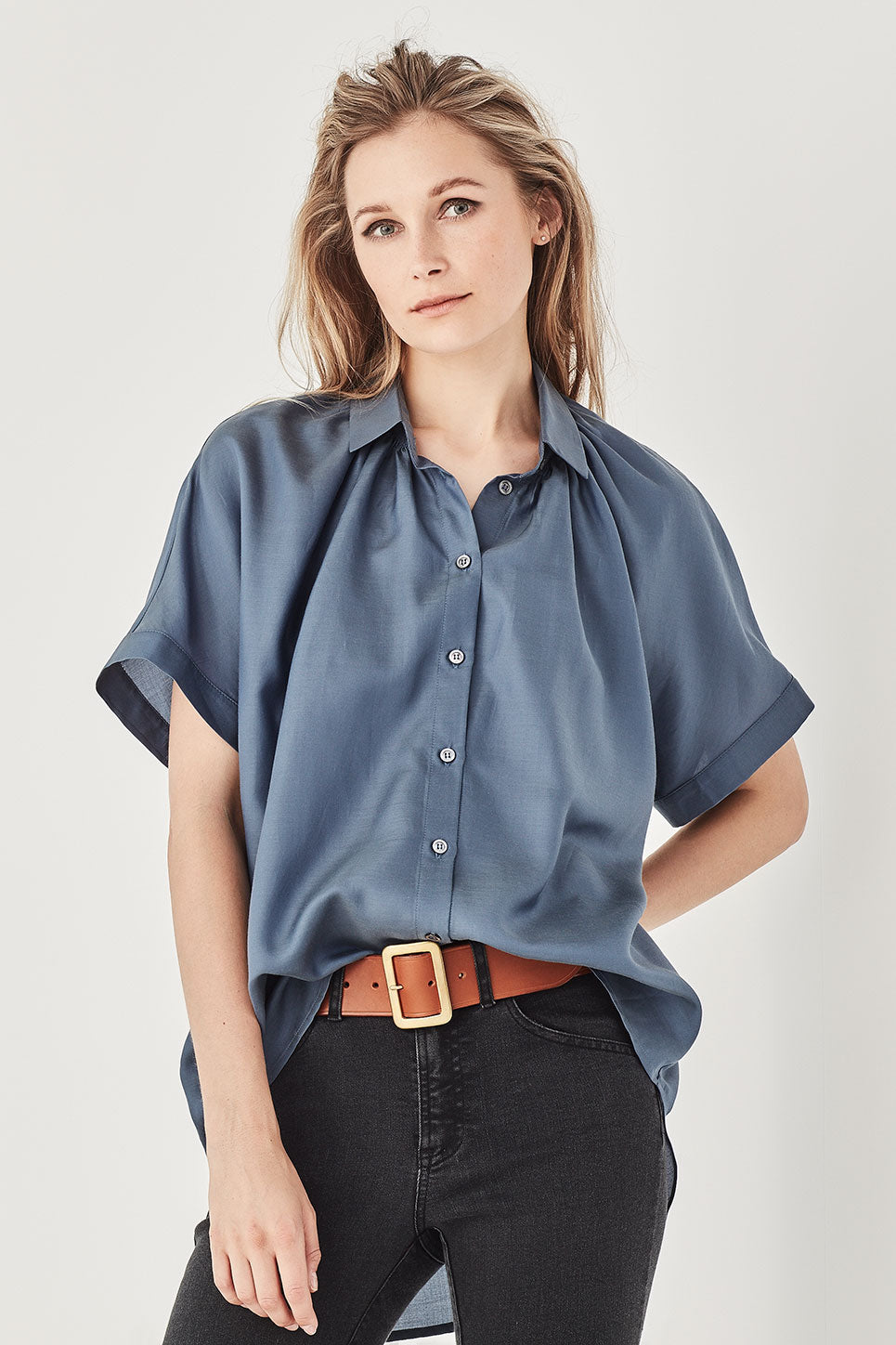 The Morrisey Blouse in Cornflower