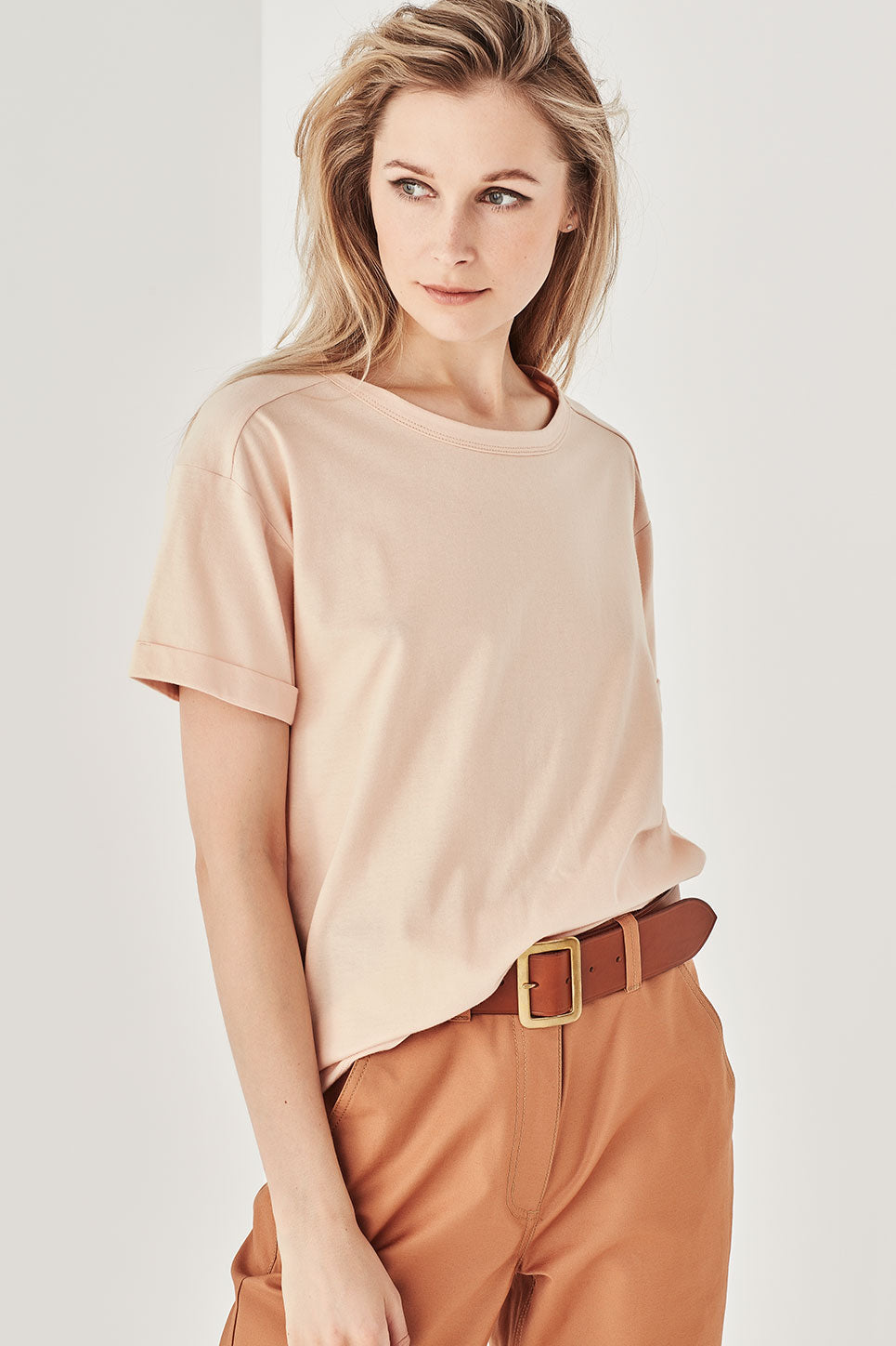 The Bastion Tee in Apricot