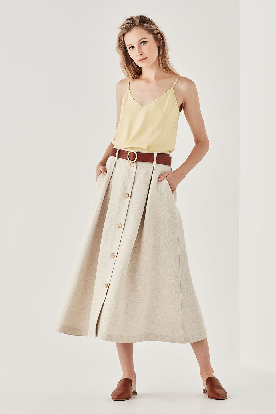 The Rafferty Skirt in Oat