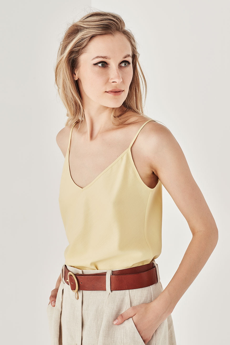 The Corsica Cami in Lemon