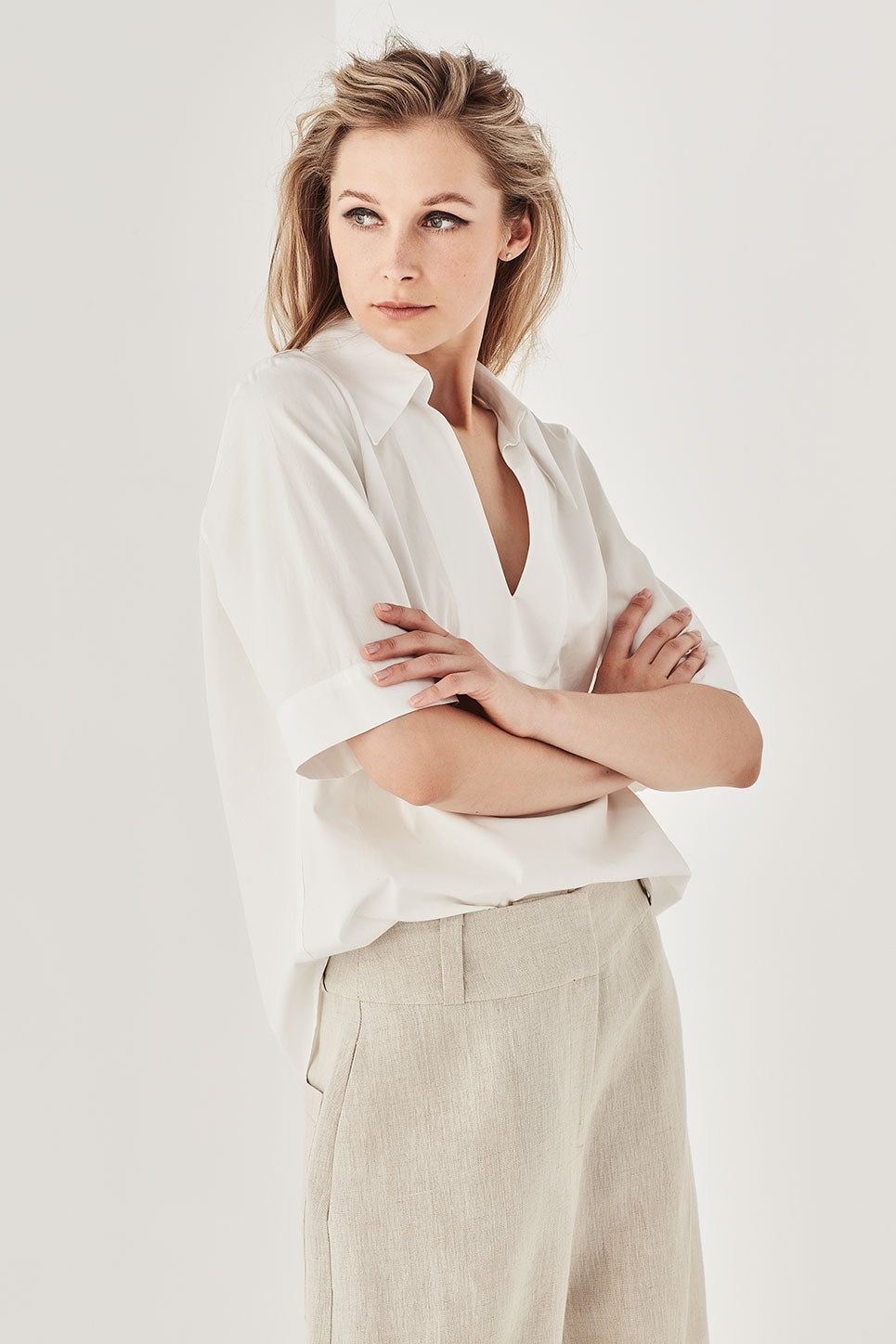 The Devere Shirt in White