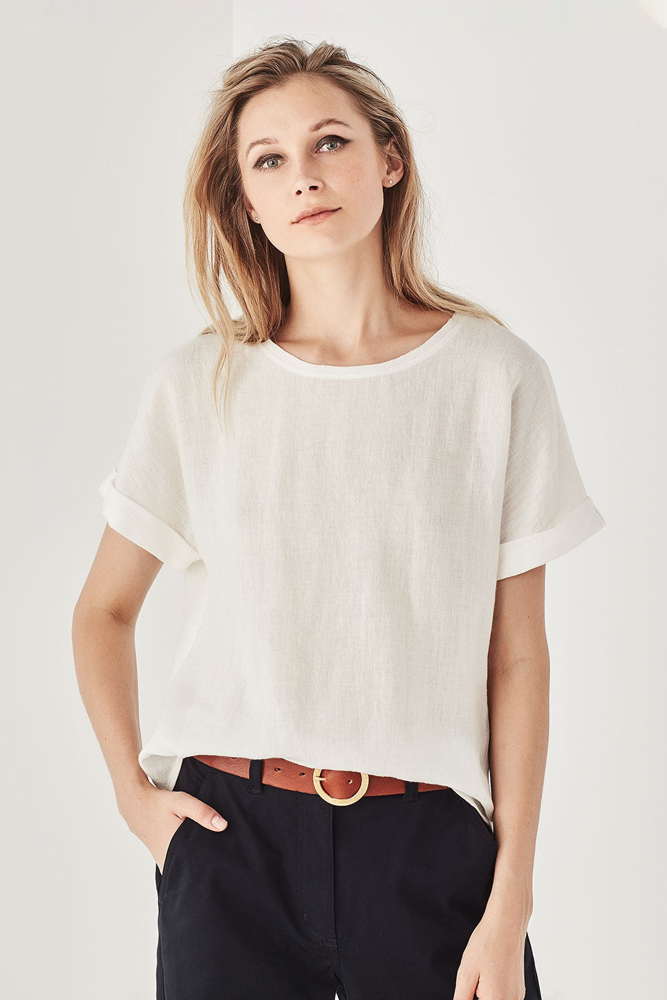 The Essence Tee in Ivory