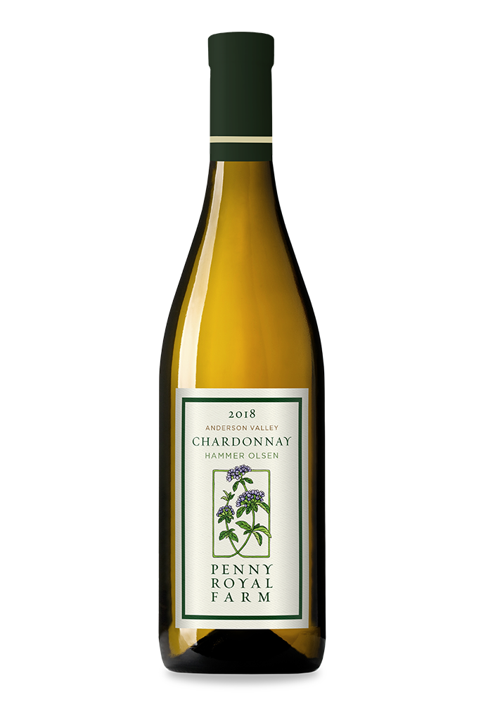 2018 Chardonnay, Hammer Olsen Vineyard, Anderson Valley, Pennyroyal Farm