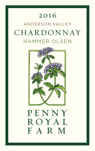 2016 Chardonnay, Hammer Olsen Vineyard, Anderson Valley