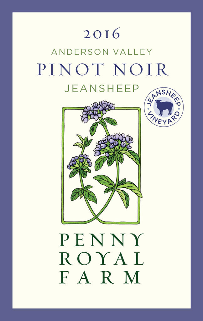 2016 Pinot Noir, Jeansheep Vineyard, Anderson Valley