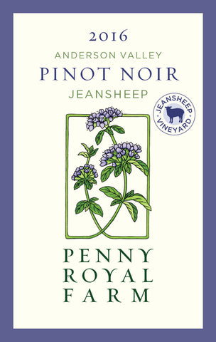 2016 Pinot Noir, Jeansheep Vineyard, Anderson Valley, Pennyroyal Farm