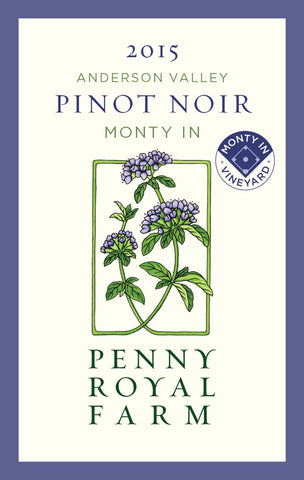 2015 Pinot Noir, Monty In Vineyard, Anderson Valley