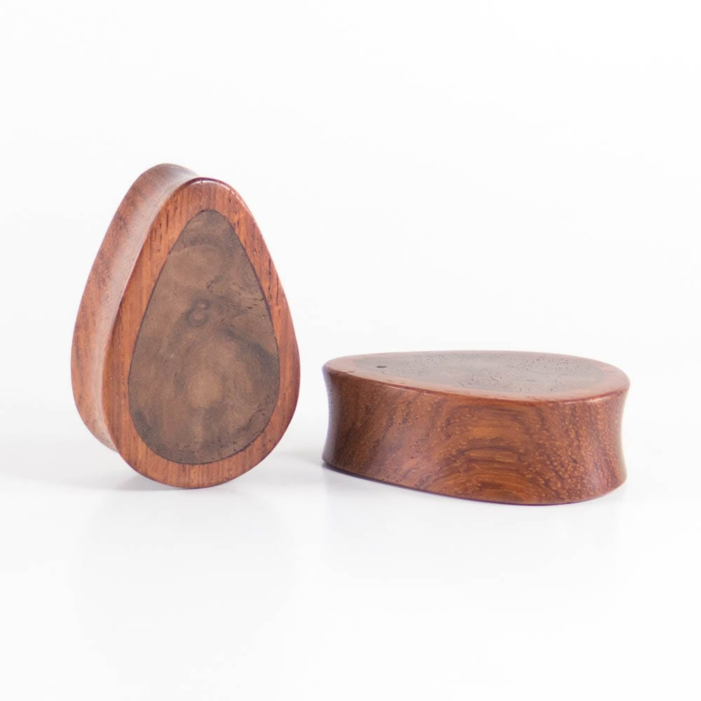 Blood Wood Concave Plugs - Bare Bones Organics