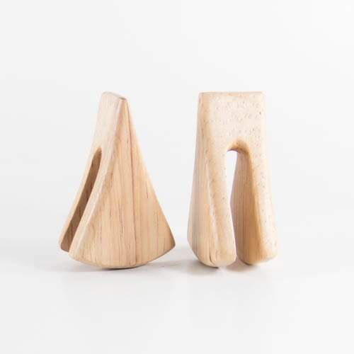 Hevea Wood Lisu Ear Weights - Bare Bones Organics