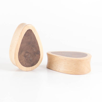 Coconut Palm Concave Plugs - Bare Bones Organics
