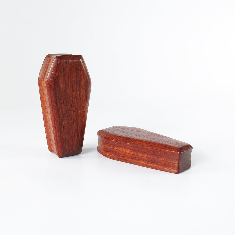 Blood Wood 3D Coffin Plugs (Pair)