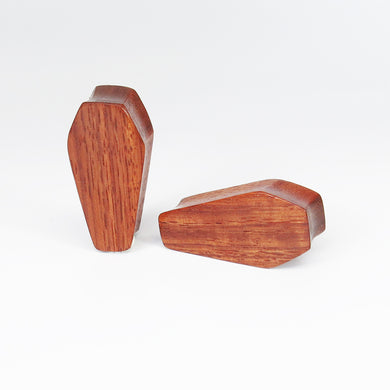 Blood Wood Coffin Plugs (Pair) - Bare Bones Organics