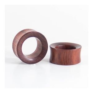 Blood Wood Concave Tunnels (Pair) - Bare Bones Organics