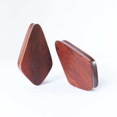 Blood Wood Crystal Plugs (Pair) - Bare Bones Organics